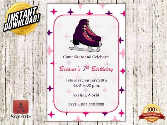 Hey, I found this really awesome Etsy listing at https://www.etsy.com/listing/249225631/instant-download-ice-skating-invitation