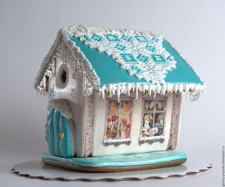 gingerbread house | Купить Пряничный домик - комбинированный, пряники, пряники ручной работы, пряник расписной, пряники на заказ