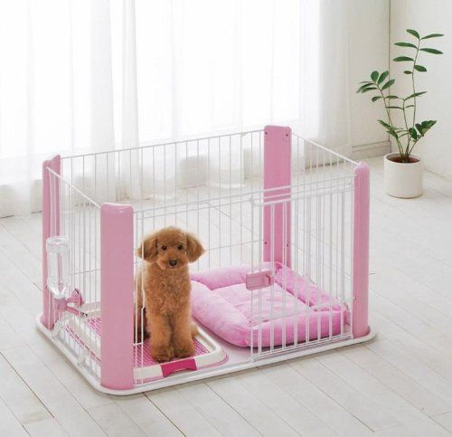 Awesome Dog Pet Pen Playpen Small   Pink W/Sliding Door + Removable Mesh Top :  Hurley Might Be Small But I Think She Could Jump Out : /