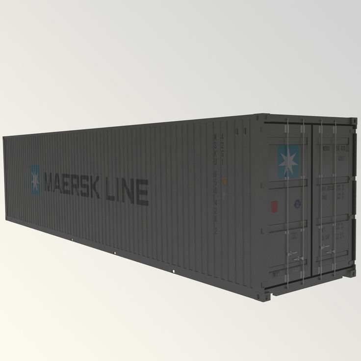 Max Maersk Line 40Ft Container - 3D Model