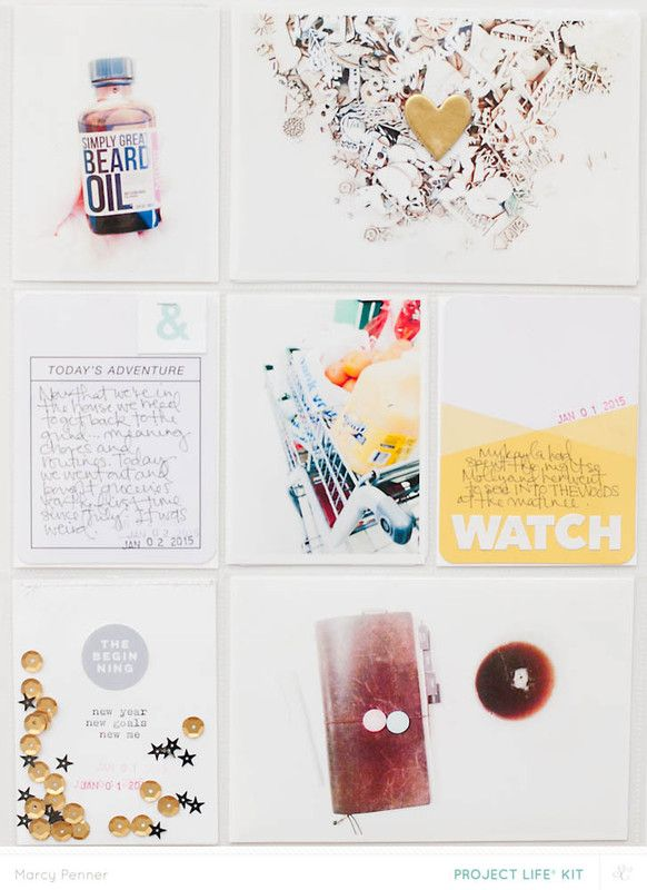 Project Life January (main only) by marcypenner at @studio_calico