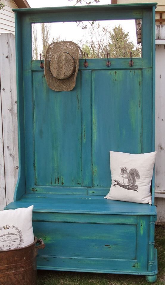 Antibes green and Napoleonic Blue Chalk Painted Furniture - Google Search