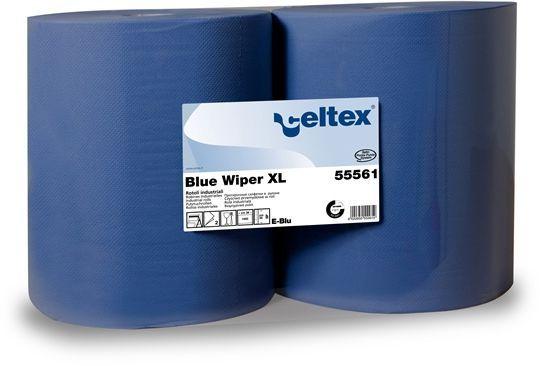 Role industriale de hartie Blue Wiper XL Celtex, celuloza 100%.