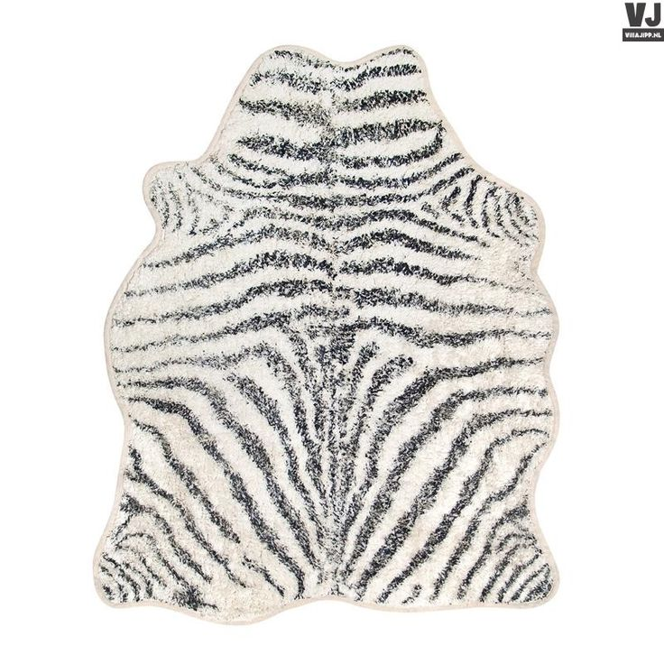 HK living online webwinkel, gratis verzenden HK-living badmat zebra zwart wit 85x100cm TAP0869 by Villa Jipp