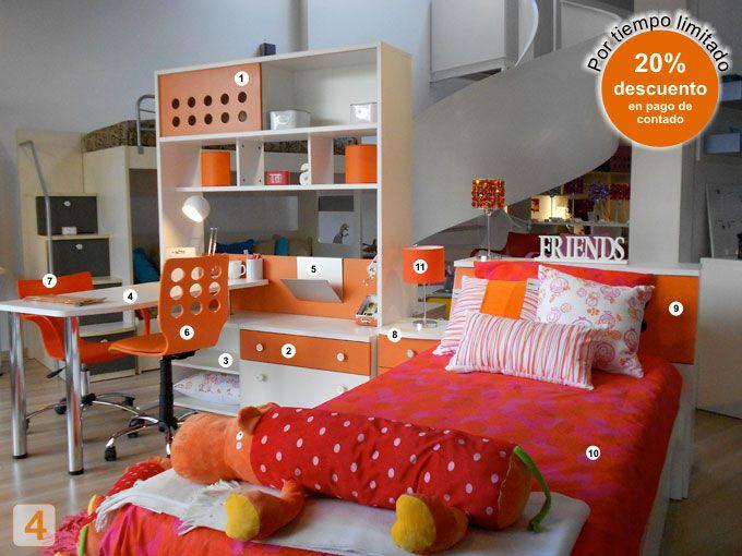 Escritorio nena cama dormitorio pieza habitacion juvenil for Sillas para habitacion