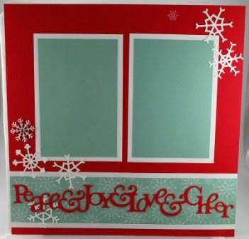 Christmas Scrap Book Pages for Scrap Club