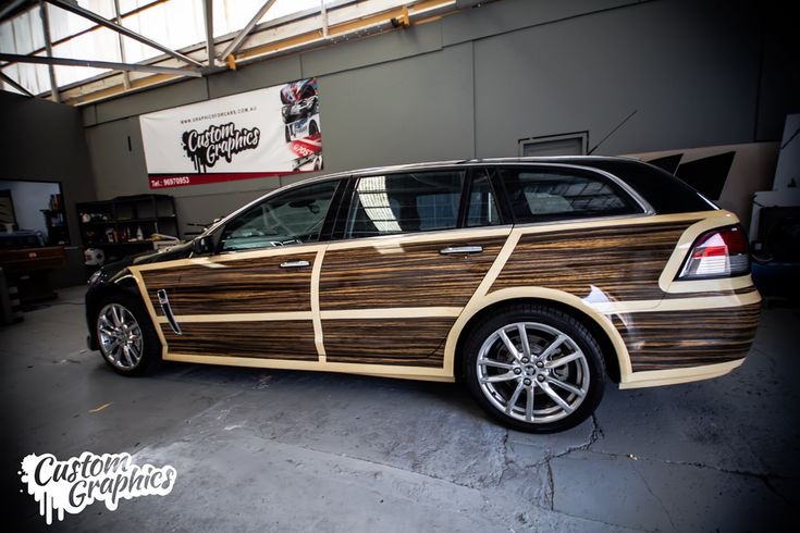 Car Stickers, Vehicle Signage This Woody Finish Holden was achieved through a High Resolution Image Captured specially procured for this purpose. The purpose was to replicate the age old wood textured finish the vehicles use to carry in the 60's and 70's.  We always stand to guarantee our products.  #Holden #graphics #cars #Sydney #wrapped #signage