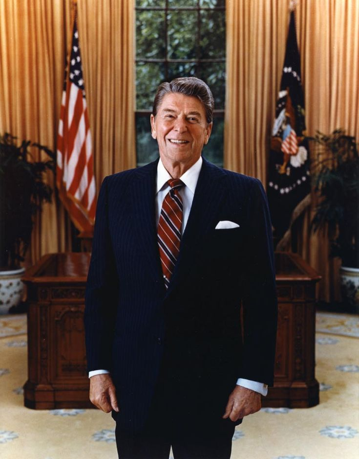 Ronald Wilson Reagan was the 40th President of the United States (1981–1989), the 33rd Governor of California (1967–1975) and, prior to that, a radio, film and television actor.