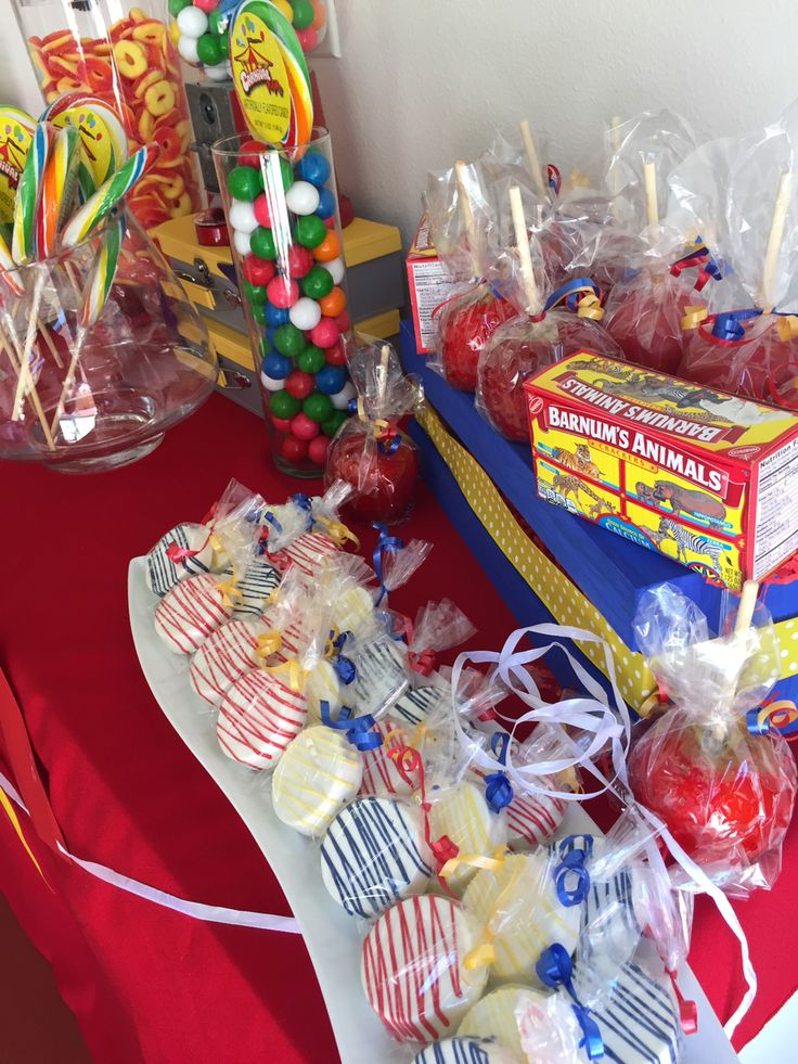 Carnival Sweets Themed Table Candy Apples Amp Chocolate