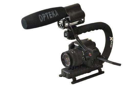 Opteka X-GRIP Action Stabilizing Handle with VM-100 Video Condenser Shotgun Microphone Kit