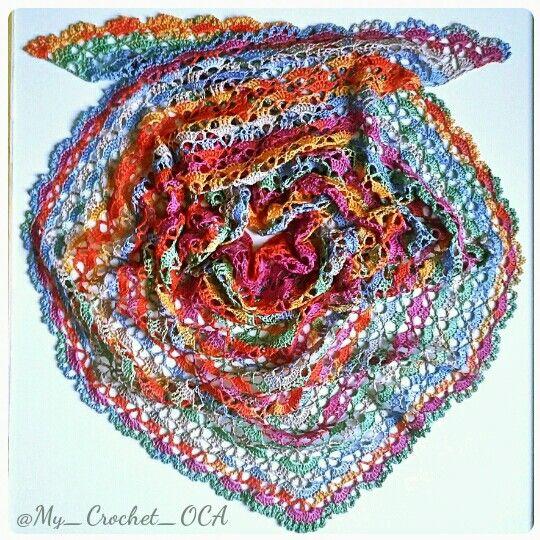 Gipsy SouthBay Shawlette (Alize Diva Batik yarn)