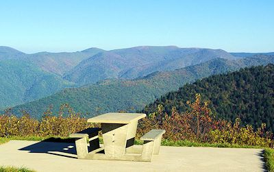 I want to picnic with Keith and the kiddos in this exact spot near Asheville on the Blue Ridge Parkway.