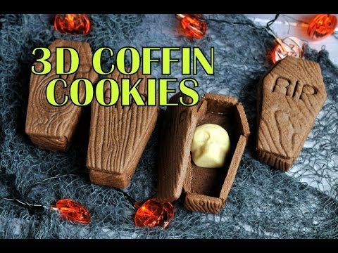 3D Coffin Cookies for Halloween  https://www.youtube.com/watch?v=n0fjKngHTfA