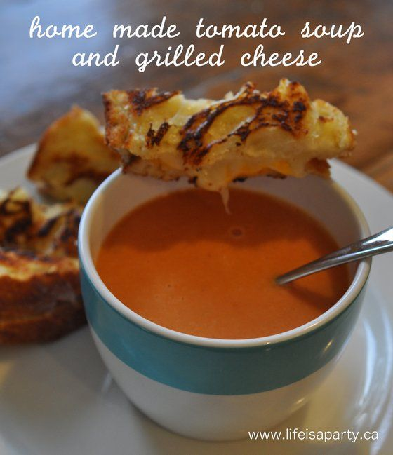 Home Made Tomato Soup and Grilled Cheese