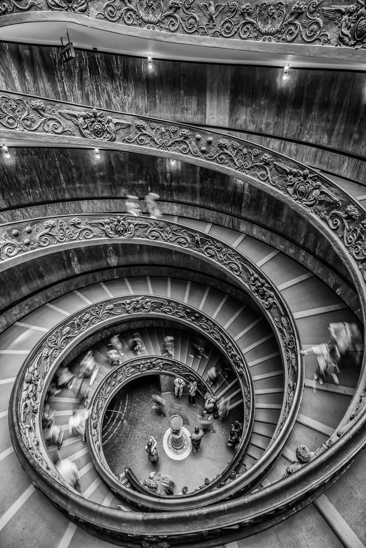 Vatican Museum Exit Staircase - Photo by Adam AllegroVatican City, Spirals Staircases, Exit Staircases, Musei Vaticani, Museums Exit, Adam Allegro, Spiral Staircases, Vatican Museums, Vatican Cities