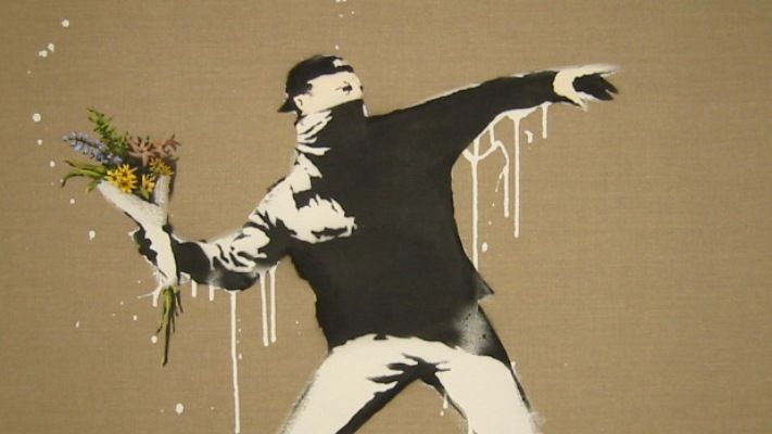 The Flower Thrower | Banksy