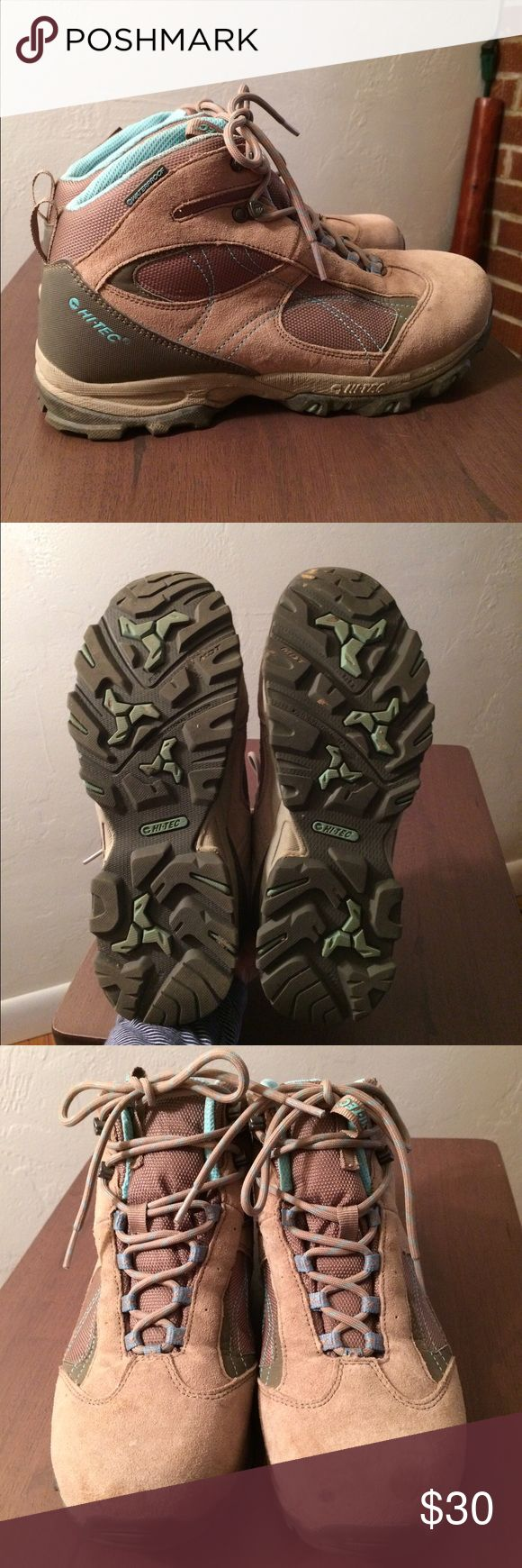 Hi Tec Women's Waterproof Hiking Boot Worn only 2x - Durable pair of ladies hiking boots, thick gor-tex sole, waterproof, & ready to hit the trails. Small spot on toe, may come off, other than that, like new. True to size 8.5 Shoes Winter & Rain Boots