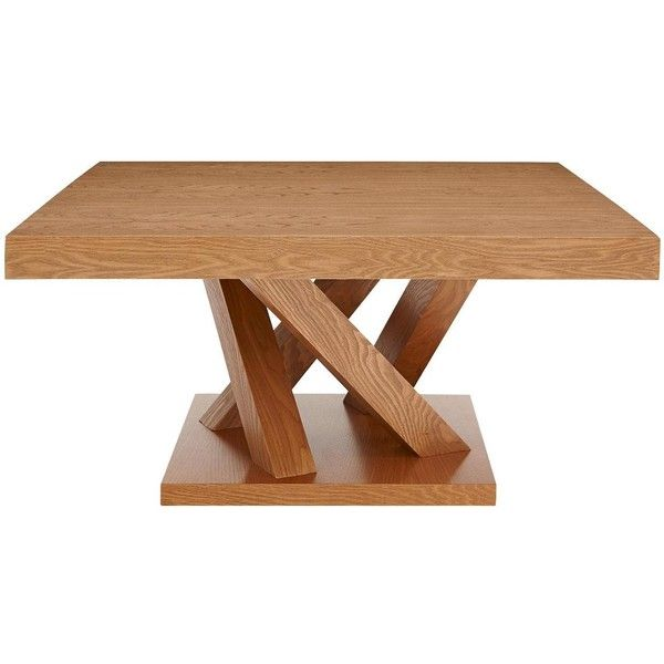 Savannah Solid Wood Coffee Table (345 CAD) ❤ liked on Polyvore featuring home, furniture, tables, accent tables, contemporary end tables, wooden accent table, wood console table, wood side table and contemporary modern coffee tables