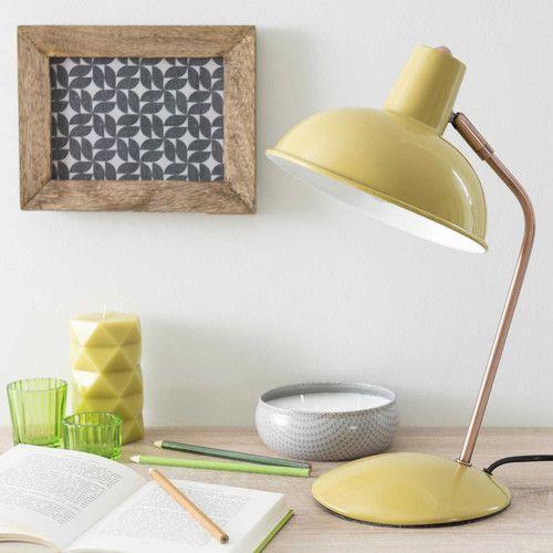 Lampada da scrivania verde in metallo H 36 cm IMANY CITRUS
