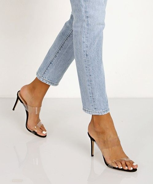 261ddeae2 Schutz Ariella Heel Transparent Black   Fashion   Heels, Fashion ...