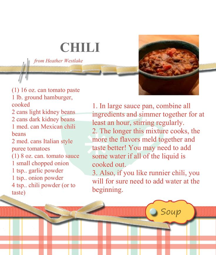 My Digital Studio (by Stampin' Up!) sample of soup page from recipe easel book; stamp set used ...