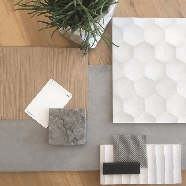 a gorgeous neutral take on modern finishes  we love this