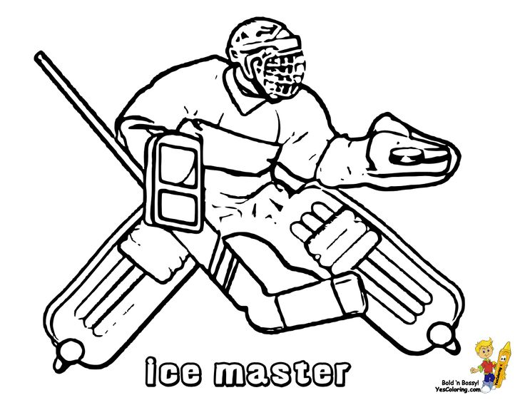 Power House Hockey Coloring! Goalie! Tell Other Kids You Found YesColoring!