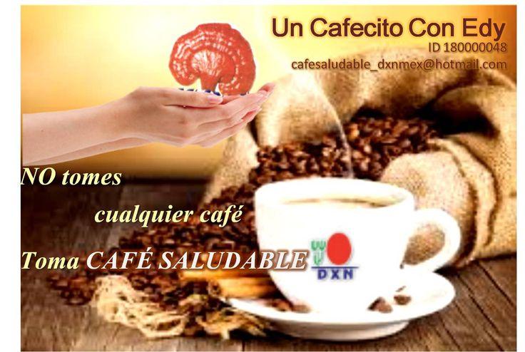 Café Orgánico Bajo en Cafeína (0.06%)...combinado con GANODERMA LUCIDUM contamos con respaldo cientifico.  1+1 = 11 BENEFICIOS  ANTITOXINA   ANTIOXIDANTE  ANTIESTRES  EFECTO DIURETICO  ALTO PODER PENETRANTE  MEJORA LA CIRCULACION SANGUINEA  EFECTO PSICOSOMATICO  BEBIDA ALCALINA  BEBIDA RICA EN ENZIMAS  AUMENTA EL SUMINISTRO DE OXIGENO  BUENO PARA EL CUIDADO DE LA PIEL   INFORMES AQUI!!!!!  cafesaludable_dxnmex@hotmail.com #Afiliate ID 180000048 #Café #DXN #Ganoderma #Salud #UnCafecitoConEdy