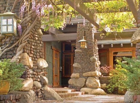 Standout Rock Fireplaces The Duncan Irwin House Pasadena CA