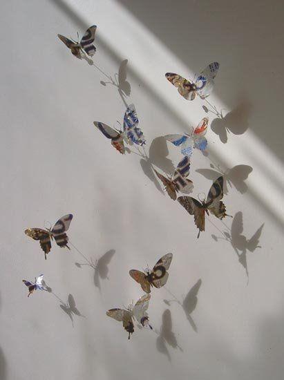 "Verzameling verwerken in ""Kunstwerk"" :: Kunst & Kolder frisdrankblikjes vlinder mobiel"