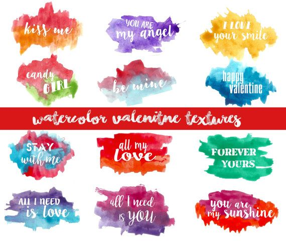 8 best Watercolor hearts images on Pinterest  Bridal invitations