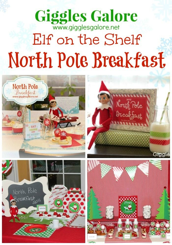 Giggles Galore Elf on the Shelf North Pole Breakfast Ideas www.gigglesgalore.net