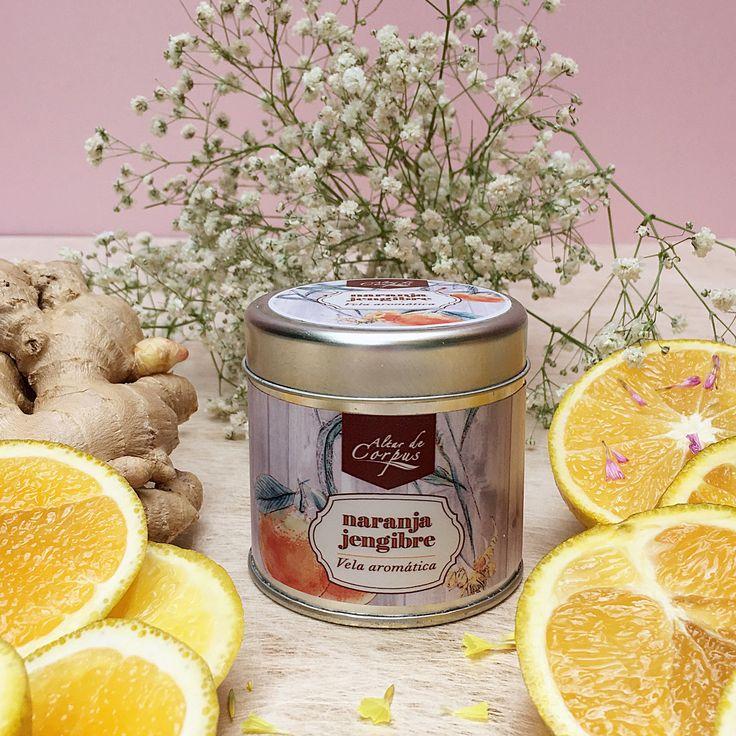 Esta vela tiene Un aroma suave y delicioso... Naranja jengibre!!!! #candles #vela #aromatherapy