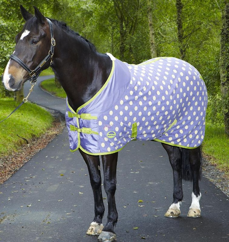Weatherbeeta + Joules makes polka- dot fleece coolers