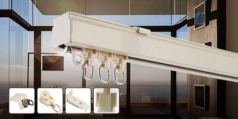 Ceiling swish curtain track system for hotel window drapes www.szonecn.com