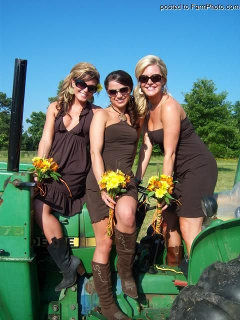 Three Girls On A John Deere Girls With Tractors