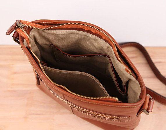 Leather Shoulder Bags/Mens Messenger Bag/ от MagicLeatherStudio