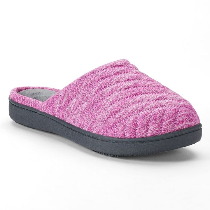 isotoner Women's Andrea Space ... Knit Clog Slippers hIHLCp
