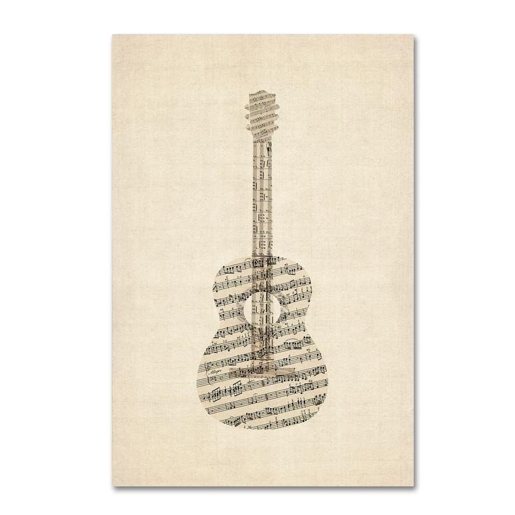 <ul><li>Artist: Michael Tompsett</li><li>Title Acoustic Guitar Old Sheet Music</li><li>Product Type: Giclee Print</li></ul>