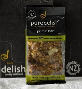 Primal Bars | Pure Delish Available individually in a 60g bar (plain) or a 68g choc dipped version also now available in a 4 bar Multipack!  These delicious, healthy snack bars are naturally grain and gluten free.  Packed with 70-80% nuts seeds and fruit they are the perfect energy packed snack. #primal #paleo #glutenfree | www.puredelish.co.nz/where-to-buy/