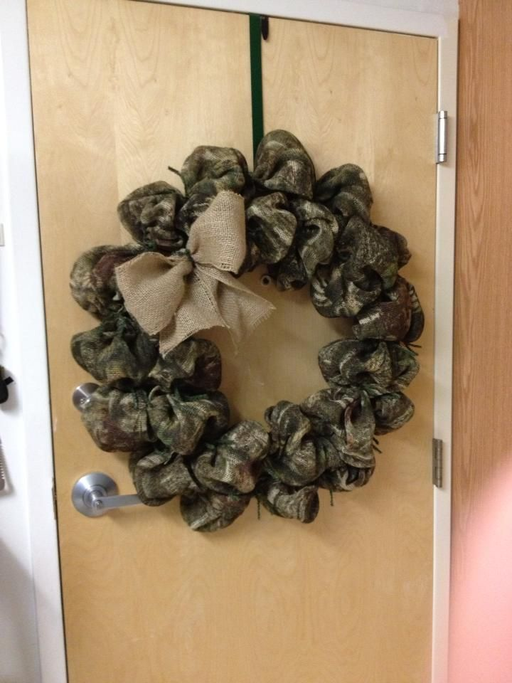 My new burlap camo wreath.....Add some bling or a letter...to make it pop! https://www.etsy.com/shop/TejanoTraditions