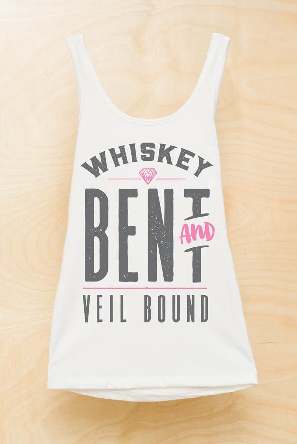 Country Bachelorette Party Shirts - Whiskey Bent and Veil Bound | Whiskey Bent and Hell Bound
