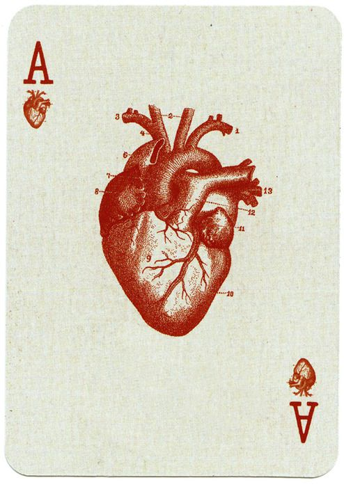 Ace of Hearts - would be cool for a medical person to have this deck of cards!
