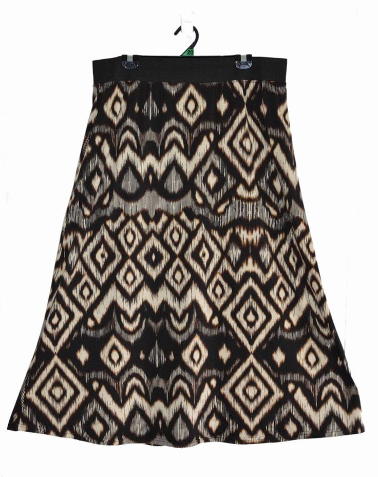 Free Postage (size 20) Millers Skirt - Plus Size - Aztec Tribal Pattern