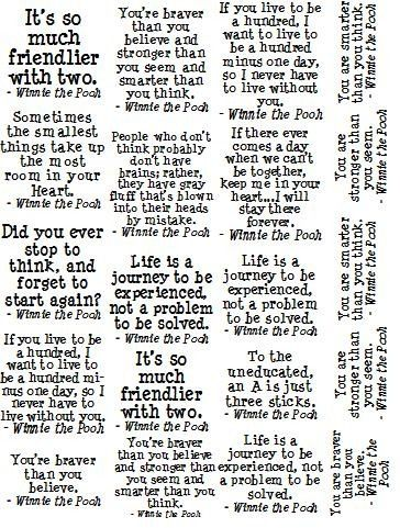 Winnie the Pooh quotes:)