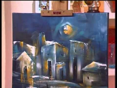 MONITOR   Gaby Mensaque pintando un paisaje con Acrílicos Profesionales ...