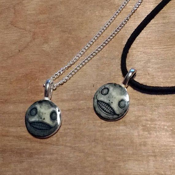 Nier // Automata // Emil // silver plated chain // Faux suede choker