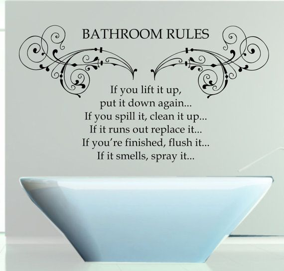 Best Bathroom Wall Stickers Images On Pinterest - How do you put a wall sticker up