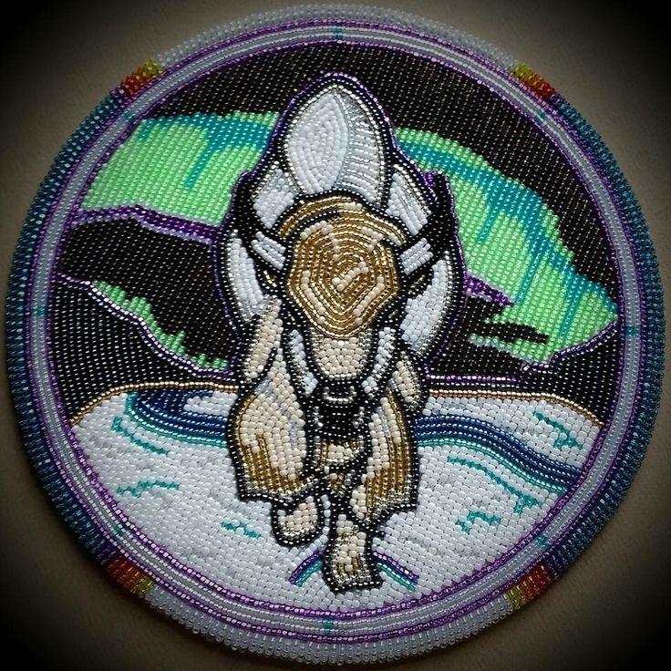 Beaded medallion
