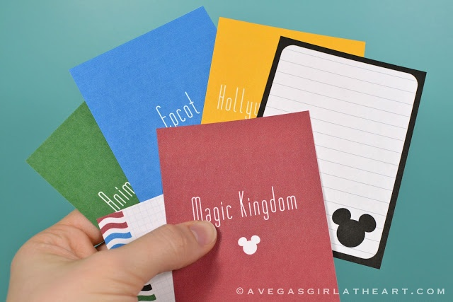 Printable Disney filler and journal cards. Simple.